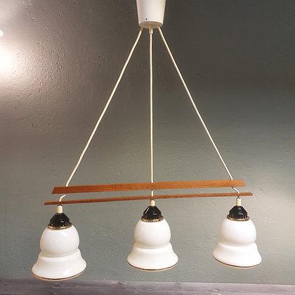 Teak glasslampe