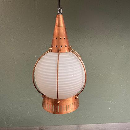 Jules Verne taklampe kobber glass