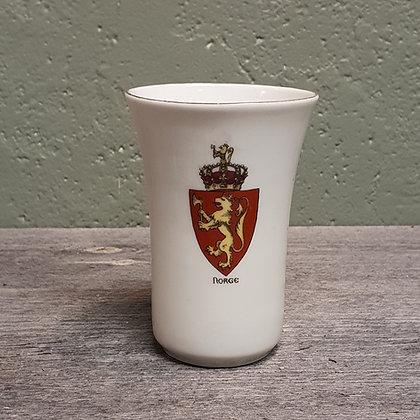 Porsgrund porselen kopp med riksløve