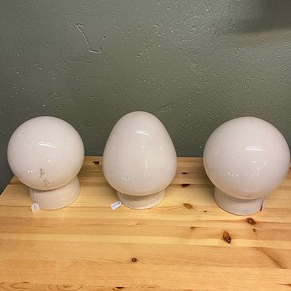 Retro kuppellampe med sokkel glas