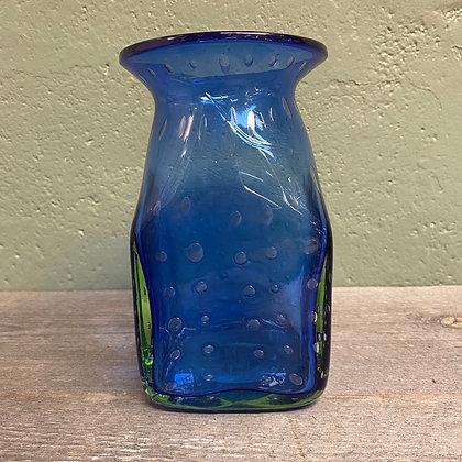 Blå glassvase