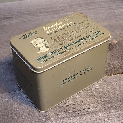 Vintage Dustfoe respirator maske i boks