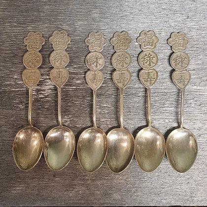 6 kinesiske teskjeer