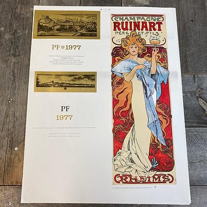 Art Nouveau champagne plakat