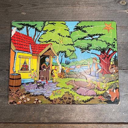Rødhette puslespill retro vintage