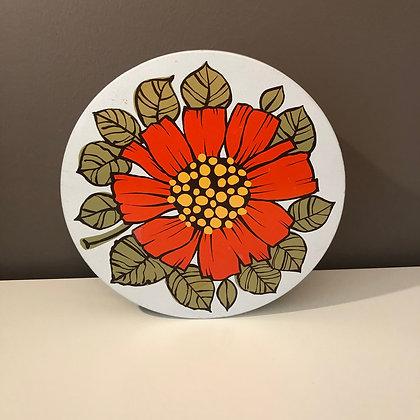 Retro kakeboks med blomstermotiv