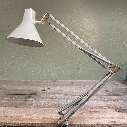 Dansk arkitektlampe arbeidslampe grå