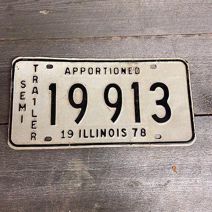 Semi trailer skilt, Illinois 78