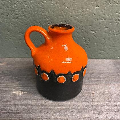 West Germany orange vase