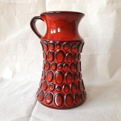 Rød Jasba vase keramikk