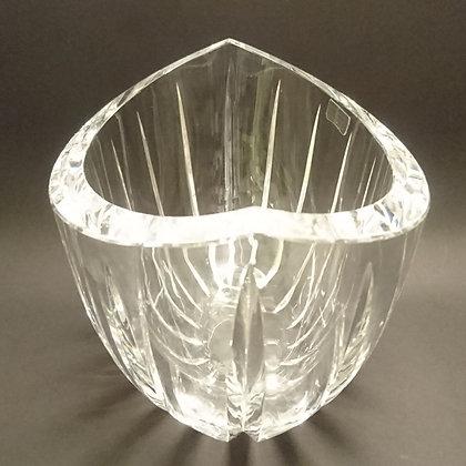 Båtformet krystallbolle norsk krystallindustri