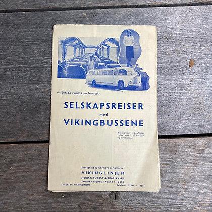 Turistbussreklame, 1939
