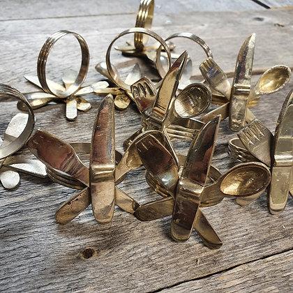 Serviettring - kniv skje og gaffel