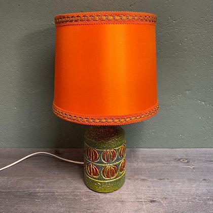 Retro keramikk bordlampe