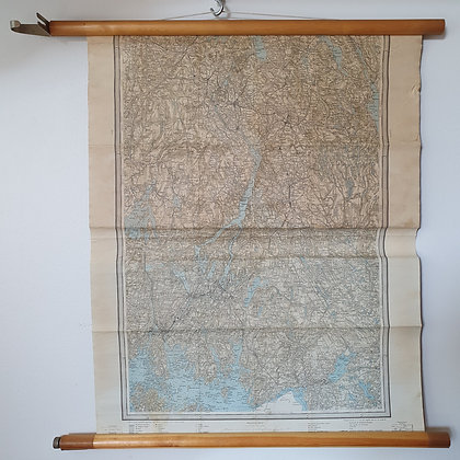 Østfold kart retro gammelt