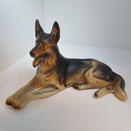 Schæfer keramikk hund