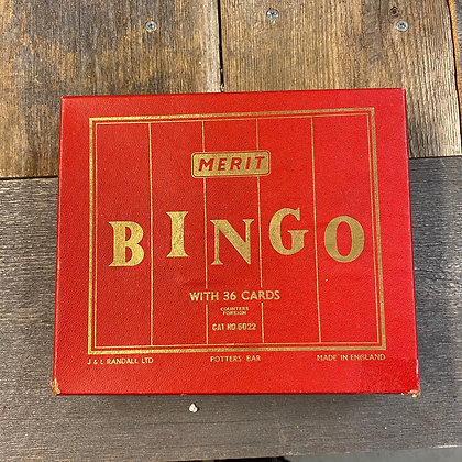 Merir retro bingo rød eske