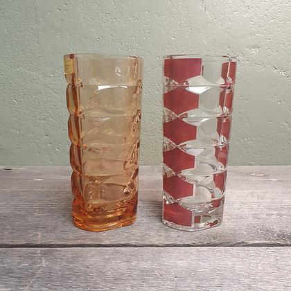 Luminarc glassvase rød og gul
