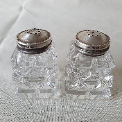 Sølv Krystall salt pepper bøsser David Andersen