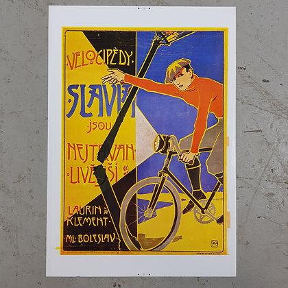 Velocipedi plakat Slovakia plakat