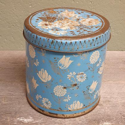 Kakeboks med blomstermotiv