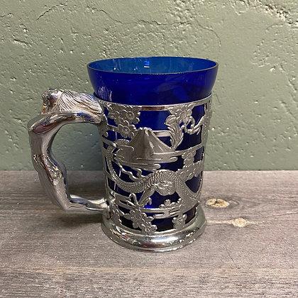 Vintage kopp med damefigur