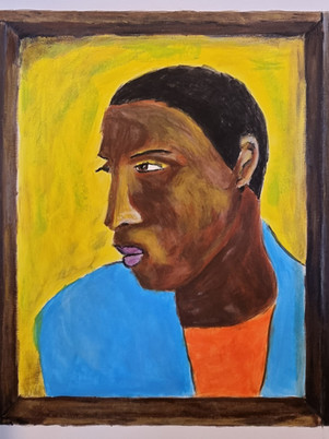 Lubaina Himid Man In A Shirt Drawer  by James Carter Art