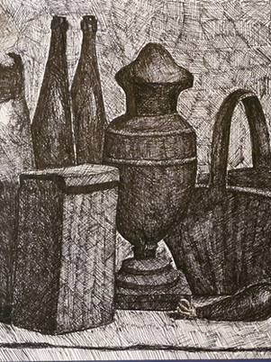 Gorgio Morandi Still Life Drawing by James Carter