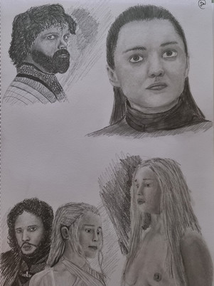 Game of Thrones Character Sketches
