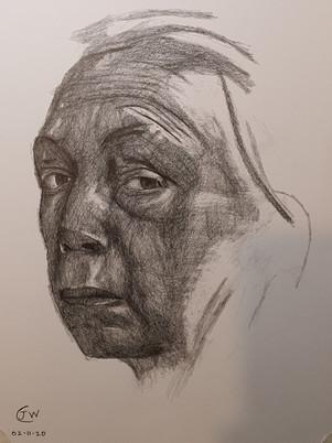Kathe Kollwitz Self Portrait Drawing by James Carter Art