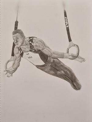 Rings Gymnast Drawing