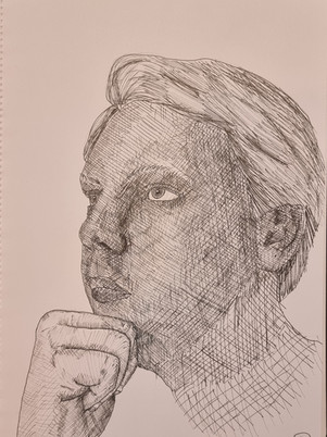 James Carter Self Portrait Sketch