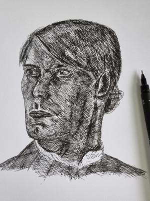 Pen Portrait Test Drawing