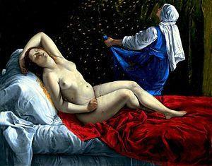 All About Danae by Artemisia Gentileschi