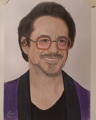 Robert Downey Jr Drawing by James Carter Art