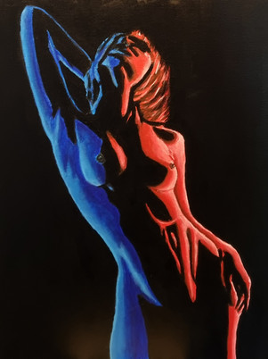 Red & Blue Nude