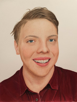James Carter Art Self Portrait Drawing