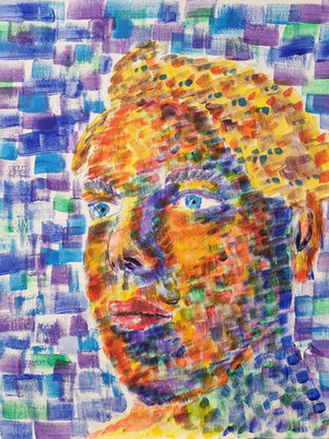 James Carter Self Portrait Painting