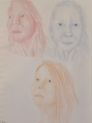 Coloured Pencil Sketches
