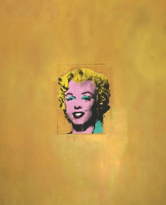 All About Gold Marilyn Monroe by Andy Warhol