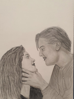 Jack and Rose Drawing by James Carter Art