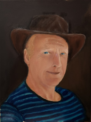 Oil Painting of My Dad