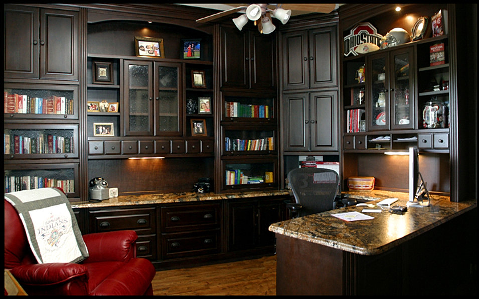 custom office in allen tx - Home Office Furniture Cabinets