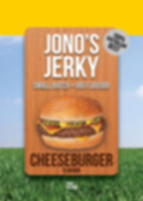 Jonos Jerky Cheeseburger beef jerky