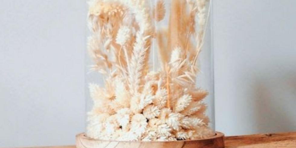 DIY Atelier - Cloche de fleurs séchées