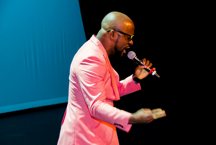 Eddy Bee performs at the 7th Annual Miss Africa Texas Pageant