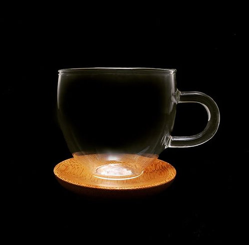 Espresso Cup with Bamboo Saucer