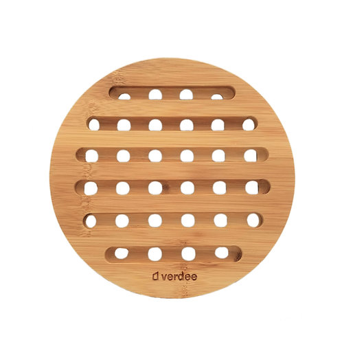Round Bamboo Heat Insulation Mat