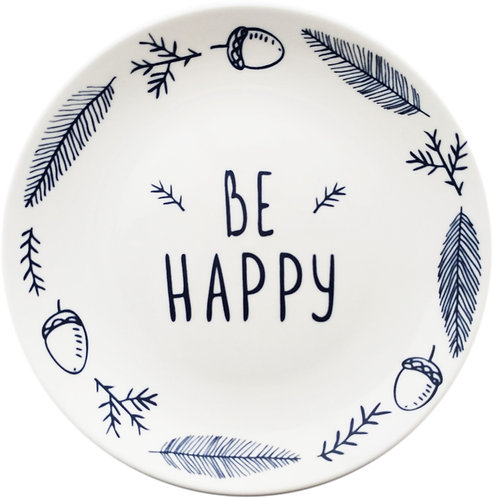 BE HAPPY Ceramic Plate