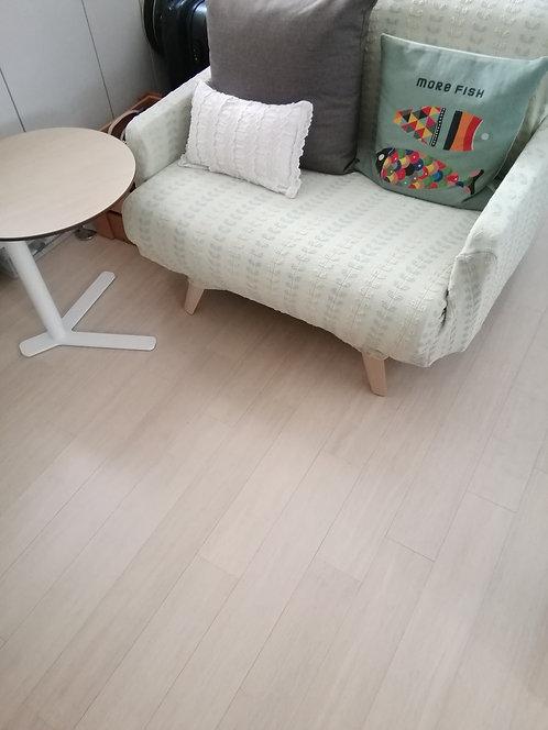 色彩 · 重壓竹地板 - 棉白